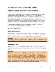 guidance for organic dairy cattle - Centre d'agriculture biologique du ...