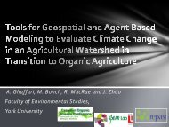 Tools for Geospatial and Agent Based Modeling to Evaluate Climate ...