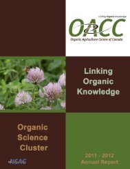 2011-2012 - Centre d'agriculture biologique du Canada