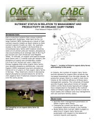 Nutrient status in relation to productivity on organic dairy farms