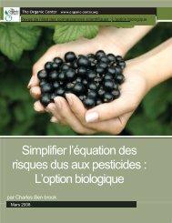 L'option biologique - Centre d'agriculture biologique du Canada