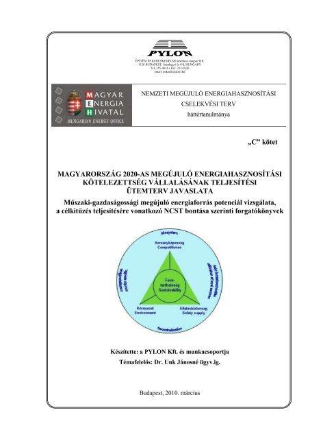 NCST forgatókönyv javaslat I. - Magyar Energia Hivatal
