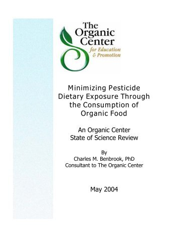 Minimizing Pesticide Dietary Exposure Through the Consumption of ...