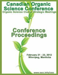 Proceedings of the Canadian Organic Science Conference and ...