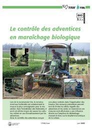 Le contrôle des adventices en maraîchage biologique - Centre d ...