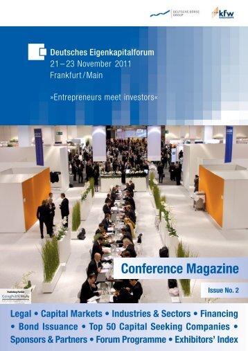 Conference Magazine 2011:EKF 2010 - Deutsches Eigenkapitalforum
