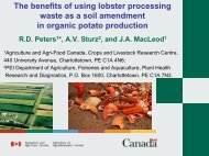 The benefits of using lobster processing waste as a soil amendment ...