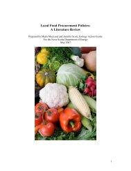 Local Food Procurement Policies - Centre d'agriculture biologique ...