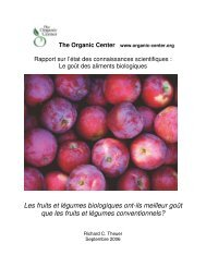 Le goût des aliments biologiques. - Centre d'agriculture biologique ...