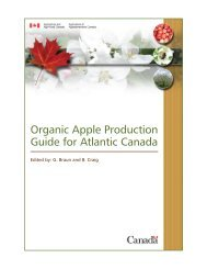 Organic Apple Production in Atlantic Canada - Centre d'agriculture ...