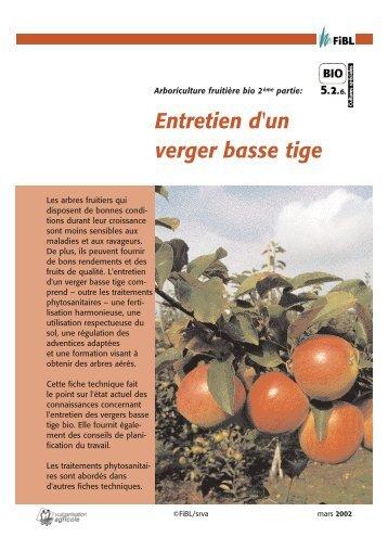 Merkblatt Pflege Obst/franz. - Centre d'agriculture biologique du ...