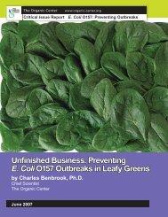 Preventing E. Coli 0157 Outbreaks in Leafy Greens