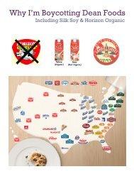 Dean Foods Boycott Flyer - Organic Consumers Association