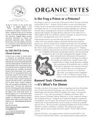 Is the Frog a Prince or a Princess? - Organic Consumers Association