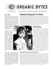 ORGANIC BYTES - Organic Consumers Association