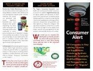 OCA's Nutri-Con Leaflet (PDF) - Organic Consumers Association