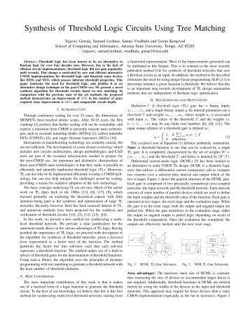 Synthesis of Threshold Logic Circuits Using Tree ... - Organic Origami