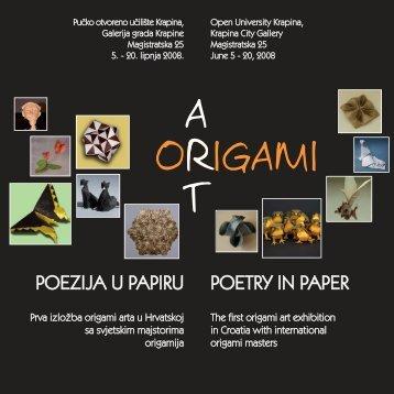 POETRY IN PAPER POEZIJA U PAPIRU - Organic Origami