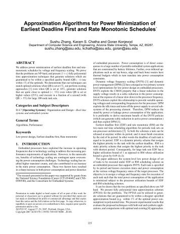 Approximation Algorithms for Power Minimization ... - Organic Origami