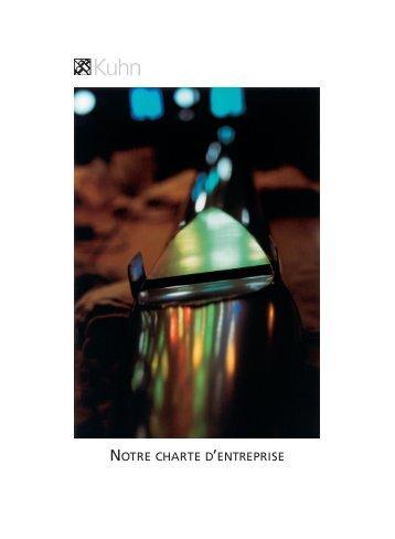 NOTRE CHARTE D'ENTREPRISE - Orgelbau Kuhn AG