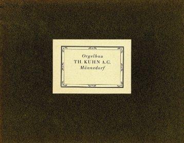 Fotoalbum 1930er-Jahre - Orgelbau Kuhn AG