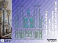 Kleine - Präsentation - Orgelbau Kuhn AG