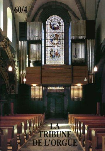 Rapport «Tribune de l'orgue» (4,7 MB - Orgelbau Kuhn AG