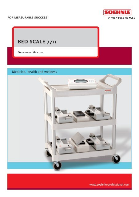 BED SCALE 7711 - Soehnle Professional