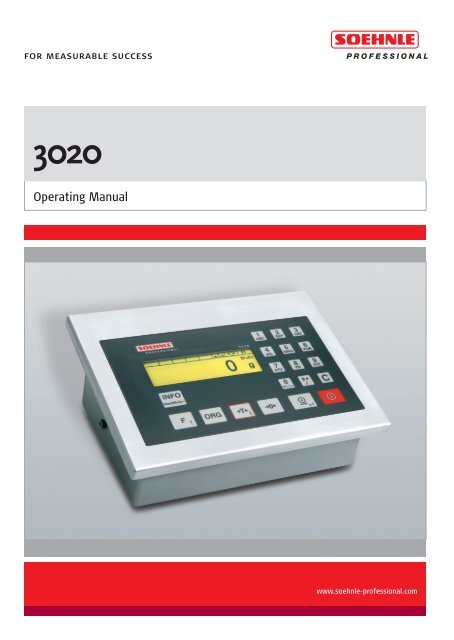 Operating Manual - Soehnle Professional