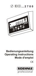Bedienungsanleitung Operating Instructions Mode d'emploi