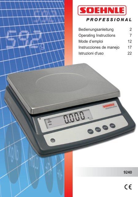 9240 Bedienungsanleitung 2 Operating Instructions 7 Mode d ...