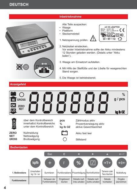 9241 Bedienungsanleitung 2 Operating Instructions 10 Mode d ...
