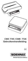 CWE 7745 /CWB 7726 Gebruikershandleiding