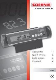 2790 Kezelési útmutató 2 Manual de instrucões 12 Navodila za ...