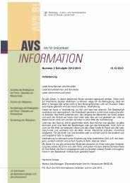 AVS-Informationen Dezember 2012 - Amt für Volksschulen - Kanton ...