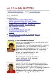Info 3 Schuljahr 2005/2006 - Amt für Volksschulen - Kanton Basel ...