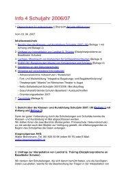 Info 4 Schuljahr 2006/07 - Amt für Volksschulen - Kanton Basel ...