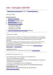 Info 1 Schuljahr 2007/08 - Amt für Volksschulen - Kanton Basel ...