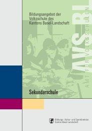Sekundarschule - AVS - Kanton Basel-Landschaft