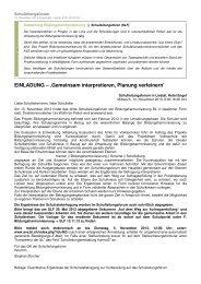 Einladung und Programm - Amt für Volksschulen