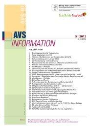 AVS-Information Juni 2013 - Kanton Basel-Landschaft