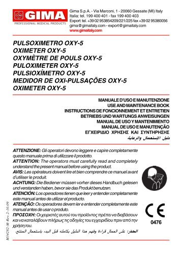 Scarica Il Manuale Per PULSOXIMETRO DA DITO OXY-6 - Ausilium