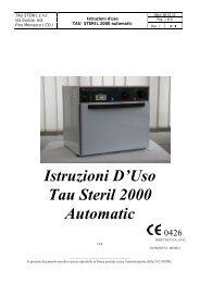 Istruzioni D'Uso Tau Steril 2000 Automatic - Doctorshop.it