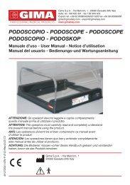 podoscopio - podoscopE - podoscopE podoscopio ... - Doctorshop.it