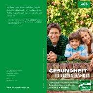 AOK - Informationsbroschüre für Patienten / Versicherte