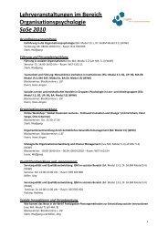 Lehrveranstaltungen SS10 - OrgLab