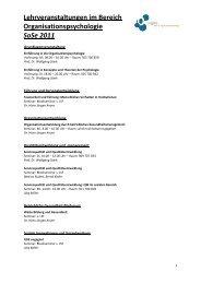 Lehrveranstaltungen WS 11_12 - OrgLab