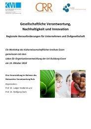 Gesellschaftliche Verantwortung, Nachhaltigkeit und ... - OrgLab