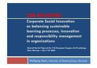 CSR REVISITED: - OrgLab