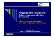 u. a. Lernende Organisation, Change Management - OrgLab